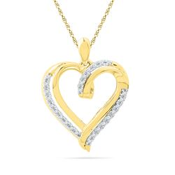 0.1 CTW Diamond Pendant 10KT Yellow Gold - GD101049-REF#17S9V