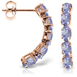 Genuine 2.5 ctw Tanzanite Earrings Jewelry 14KT Rose Gold - GG#3226 - REF#52V9W