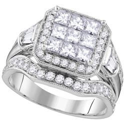 2 CTW Diamond Ladies Ring 14KT White Gold - GD107331-REF#323N9S