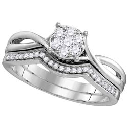 0.33 CTW Diamond Ladies Ring 10KT White Gold - GD109784-REF#40W5G