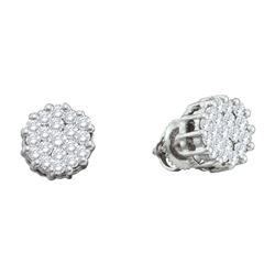 1 CTW Diamond Earrings 14KT White Gold - GD46601-REF#90N2S