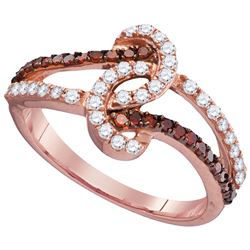 0.5 CTW White & Cognac Diamond Ladies Ring 10KT Rose Gold - GD104323-REF#32A3X
