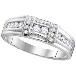 1.38 CTW Diamond Trio Set Ring 14KT White Gold - GD109770-REF#185W3G