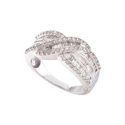0.75 CTW Diamond Ladies Ring 14KT White Gold - GD48185-REF#77H3W