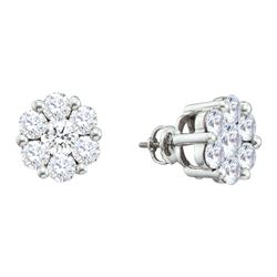 2 CTW Diamond Earrings 14KT White Gold - GD12394-REF#251X8Y