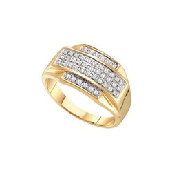 0.33 CTW Diamond Men's Ring 10KT Yellow Gold - GD37874-REF#32Y3Z