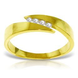 Genuine 0.12 ctw Diamond Anniversary Ring Jewelry 14KT Yellow Gold - GG#4578 - REF#54Y5F
