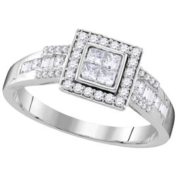 0.5 CTW Diamond Ladies Ring 10KT White Gold - GD109568-REF#62V9A
