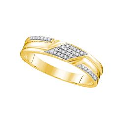 0.33 CTW Diamond Trio Set Ring 10KT Yellow Gold - GD108197-REF#45R2H