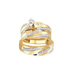 0.75 CTW Diamond Trio Set Ring 10KT Yellow Gold - GD45943-REF#90W2G