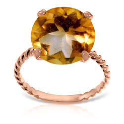 Genuine 5.5 ctw Citrine Ring Jewelry 14KT Rose Gold - GG#5482 - REF#37M2T