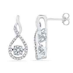 0.33 CTW Diamond Earrings 10KT White Gold - GD101821-REF#45R2H