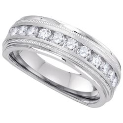 0.25 CTW Diamond Men's Ring 10KT White Gold - GD107529-REF#40N5S