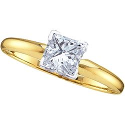 0.85 CTW Diamond Solitaire Ring 14KT Yellow Gold - GD18102-REF#323K9R
