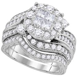 2.51 CTW Diamond Soliel Bridal Set Ring 14KT White Gold - GD100017-REF#305Y8Z