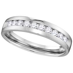 0.5 CTW Diamond Ladies Ring 14KT White Gold - GD110095-REF#71A9X