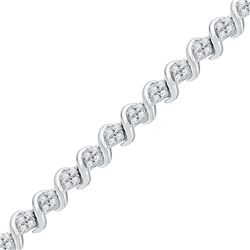 1 CTW Diamond Bracelet 10KT White Gold - GD101696-REF#90V2A