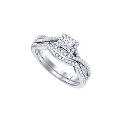 0.87 CTW Diamond Bridal Ring 14KT White Gold - GD84060-REF#107H9W