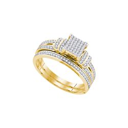 0.33 CTW Diamond Bridal Set Ring 10KT Yellow Gold - GD80969-REF#50Z3T