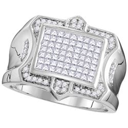 1 CTW Diamond Men's Ring 10KT White Gold - GD109806-REF#116X9Y