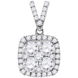 1.33 CTW Diamond Pendant 10KT White Gold - GD109561-REF#251F8N
