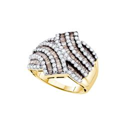 1.75 CTW White & Cognac Diamond Ladies Ring 14KT Yellow Gold - GD49648-REF#149H3W