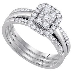 0.5 CTW Diamond Bridal Set Ring 10KT White Gold - GD107575-REF#62T9K