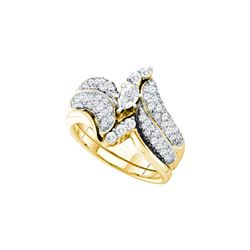 1.25 CTW Diamond Bridal Set Ring 14KT Yellow Gold - GD39478-REF#189M2F