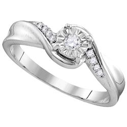 0.15 CTW Diamond Ladies Ring White Rhodium Silver - GD110772-REF#17M4F