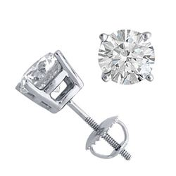 14K White Gold Jewelry 2.0 ctw Natural Diamond Stud Earrings - WJA1271 - REF#501Z4T