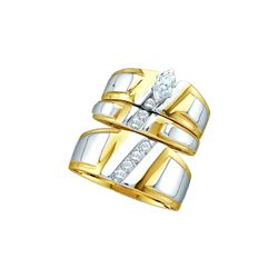 0.25 CTW Diamond Trio Set Ring 10KT Two-tone Gold - GD18165-REF#59S4V