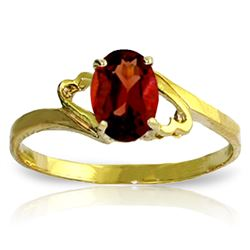 Genuine 0.9 ctw Garnet Ring Jewelry 14KT Yellow Gold - GG#2087 - REF#19Z9N