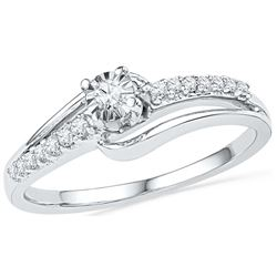 0.2 CTW Diamond Ladies Ring 10KT White Gold - GD100708-REF#25W3G