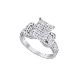 0.33 CTW Diamond Ladies Ring 10KT White Gold - GD64710-REF#45W2G