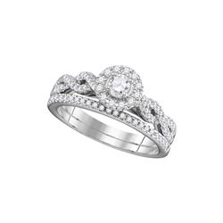 0.5 CTW Diamond Bridal Set Ring 14KT White Gold - GD111255-REF#116T9K
