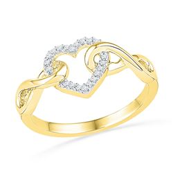 0.1 CTW Diamond Ladies Ring 10KT Yellow Gold - GD101778-REF#19G7M