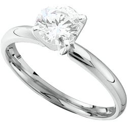 1 CTW Diamond Ladies Ring 14KT White Gold - GD11743-REF#359X9Y