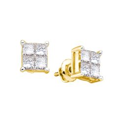 0.5 CTW Diamond Earrings 14KT Yellow Gold - GD19695-REF#53S9V