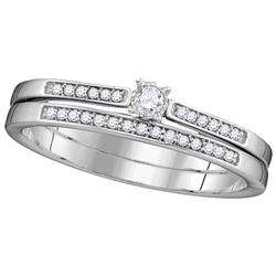 0.3 CTW Diamond Bridal Set Ring 10KT White Gold - GD110640-REF#26G9M