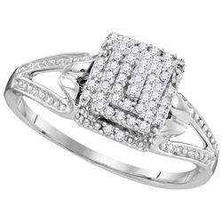 0.15 CTW Diamond Ladies Ring 10KT White Gold - GD104029-REF#21K6R