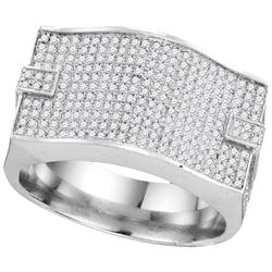 1 CTW Diamond Men's Ring 10KT White Gold - GD109939-REF#95R3H