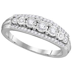 0.25 CTW Diamond Ladies Ring 10KT White Gold - GD106877-REF#34H3W