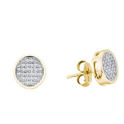 0.1 CTW Diamond Earrings 10KT Yellow Gold - GD50568-REF#13Z5T