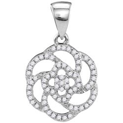 0.25 CTW Diamond Pendant 10KT White Gold - GD108568-REF#21K6R