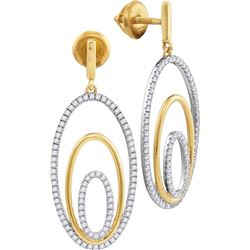 0.5 CTW Diamond Earrings 10KT Two-tone Gold - GD110390-REF#58F4N