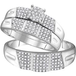 0.5 CTW Diamond Trio Set Ring 10KT White Gold - GD104117-REF#59G4M