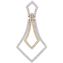 0.35 CTW Diamond Pendant 14KT Two-tone Gold - GD79598-REF#39A5X