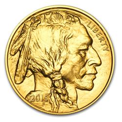 One pc. 2015 1 oz .9999 Fine Gold Buffalo Brilliant Uncirculated