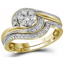 0.35 CTW Diamond Bridal Set Ring 14KT Yellow Gold - GD110662-REF#62A9X