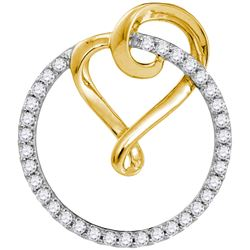 0.33 CTW Diamond Pendant 10KT Two-tone Gold - GD105830-REF#26R9H